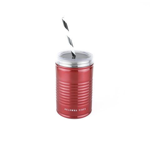 Red 'Kelowna Vibes' 18oz. Coffee Can Tumbler