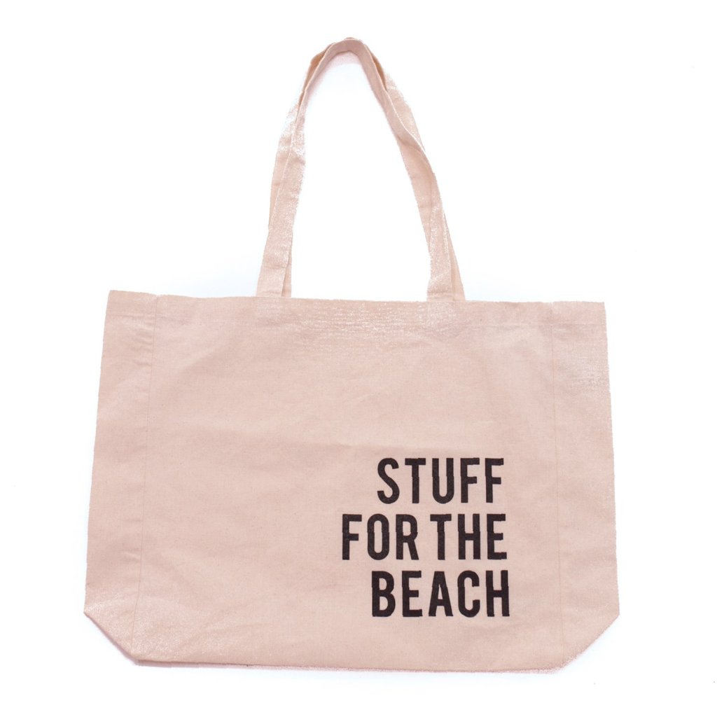 'Stuff for the Beach' Canvas Tote Bag