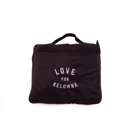Black 'Love for Kelowna' Travel Blanket