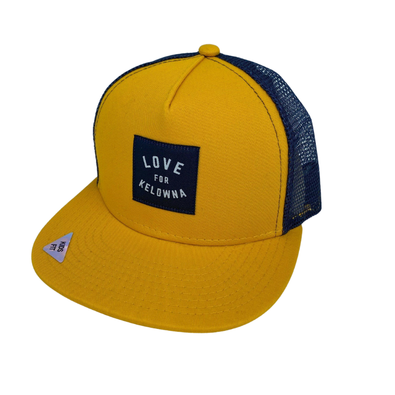 Gold/Navy 'Love for Kelowna' Kids' Trucker Hat