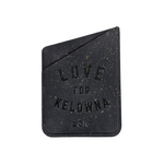 'Love for Kelowna' Black Eco-friendly Phone Case Card Holder