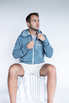 Slate Blue 'Love for Kelowna' Zip Hoodie