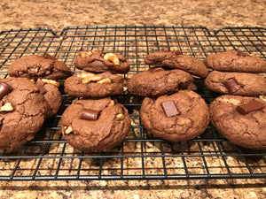 Vegan Brownie Cookies (Without Walnuts)