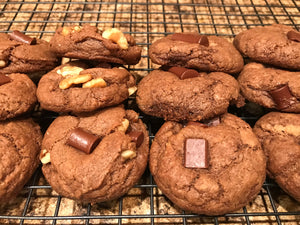 Vegan Brownie Cookies (With Walnuts)
