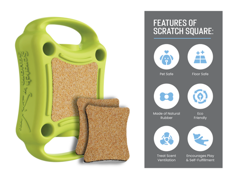 Emery board for Dogs-Scratch Square Features. Made in USA