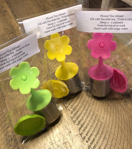 Flower Tea Infuser  -  assorted colors