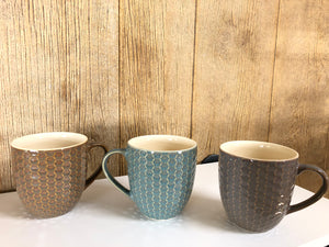 Honeycomb Mug - assorted colors
