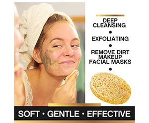 Face sponges cellulose compressed 2 pack