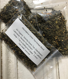 Specialty Organic Herbal Loose Leaf Tea blends -  sample size