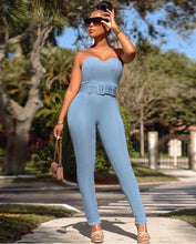Let's Go For A Walk Denim Jumpsuit