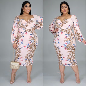 Sizes Pluss Andrea Midi Dress - Exotic Fashion Boutique Inc.