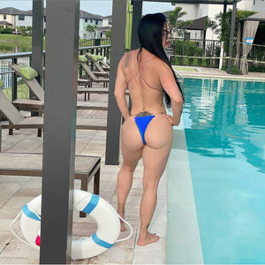 Blue clear views bikini