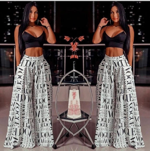 Vogue Black and White Pant