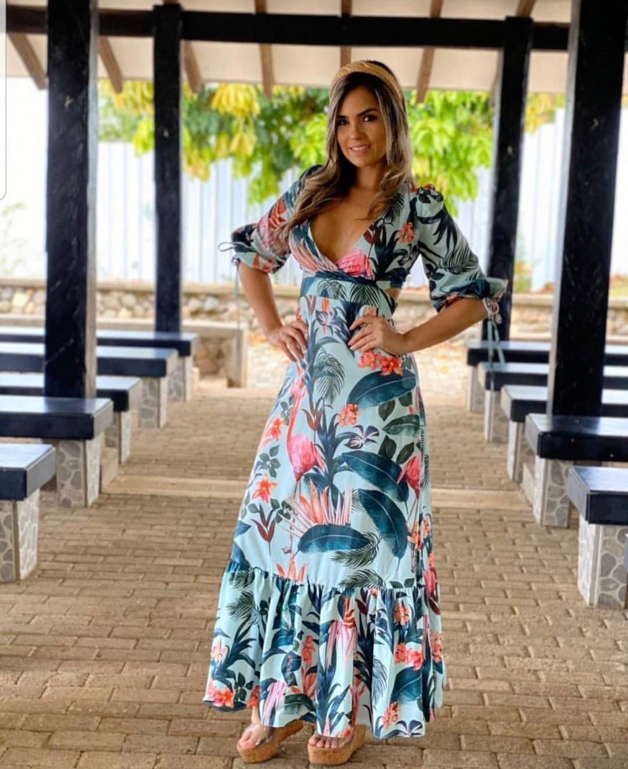 The Esme Tropical Maxi Dress