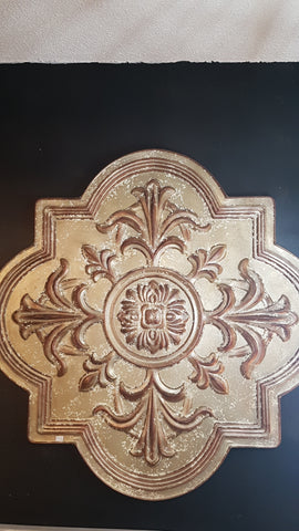 Giant Metal Gold Medallion Wall Art -  -Lemongrass Boutique