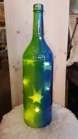 LED Bottle Green and Blue -  -Lemongrass Boutique