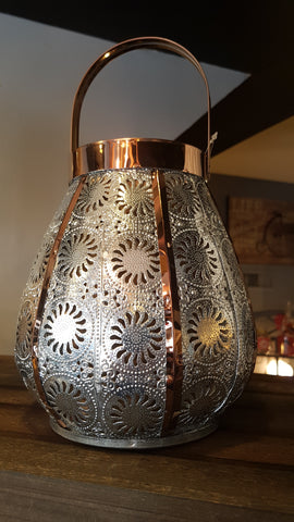 Silver and Copper Bohemian Lantern -  -Lemongrass Boutique