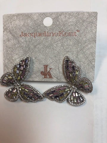 Jacqueline Kent EARRINGS BUTTERFLY MULTI JKE457.MI -  -Jacqueline Kent