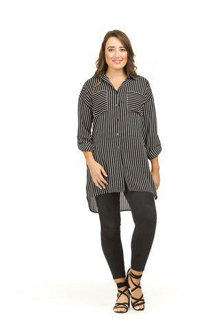 Papillon Striped Shirt With Pockets PT03029