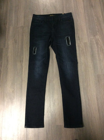 Dark Blue Jean with Bling Patch  GG395DS-SL -  -GG Jeans