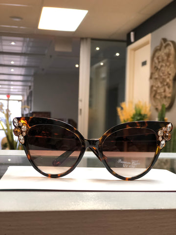 Sunglasses Tortoiseshell with Bling -  -Kenneth Bell