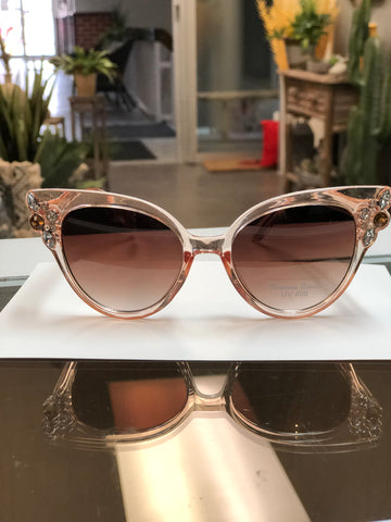 Sunglasses with Bling Beige SUN26 -  -Kenneth Bell