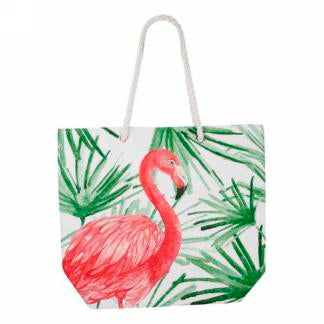 Flamingo motif tote bag I9231 -  -Lemongrass Boutique