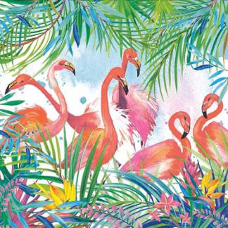 Lunch napkins - pink flamingos J5726 -  -Lemongrass Boutique