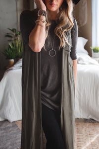 Carly Sleeveless Duster Cardigan