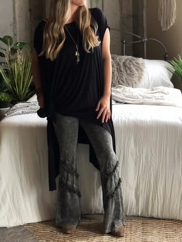 Dreamer Fringed Bell Bottom Pants