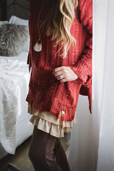 Camila Distressed Sweater