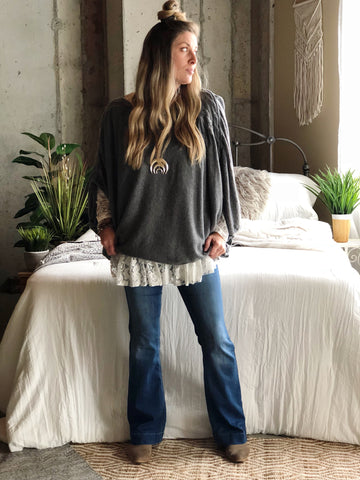 Luna Braided Slouchy Sweater