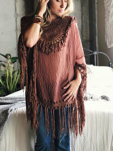 Jois Crocheted Poncho