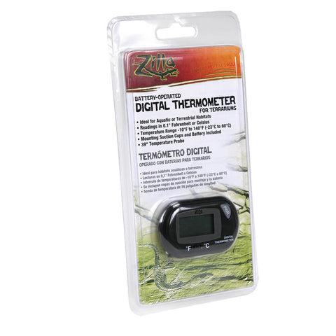 Zilla - Digital Thermometer for Terrariums Battery-operated