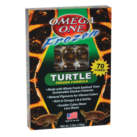 Omega One Frozen Turtle Food 3.5 Oz Cubes