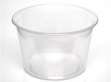 "Slightly Opaque 4.5"" Pre-punched Deli Cup - 10 Pack"