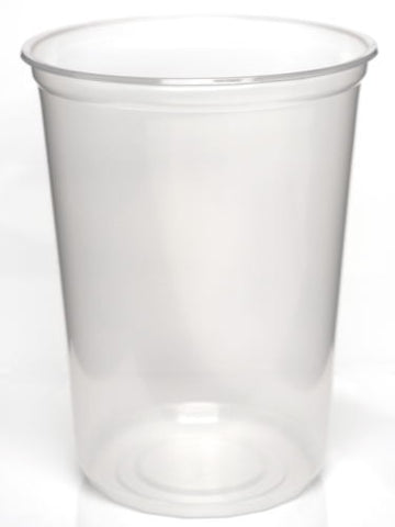 "Slightly Opaque 4.5"" NO-Holes 32oz Deli Cup - 10 Pack"