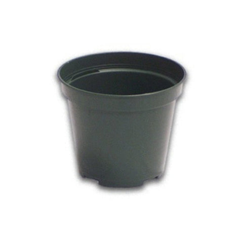 "4"" Standard Green Plastic Pot"