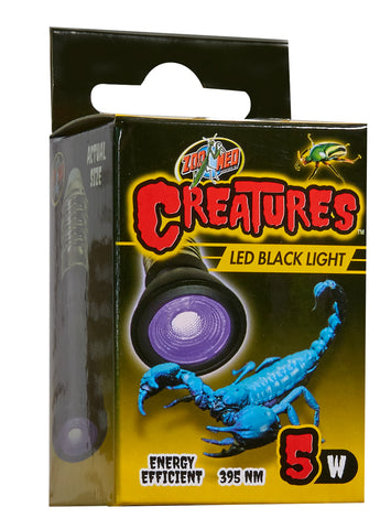 Zoo Med Creatures LED Black Light Bulb 5w