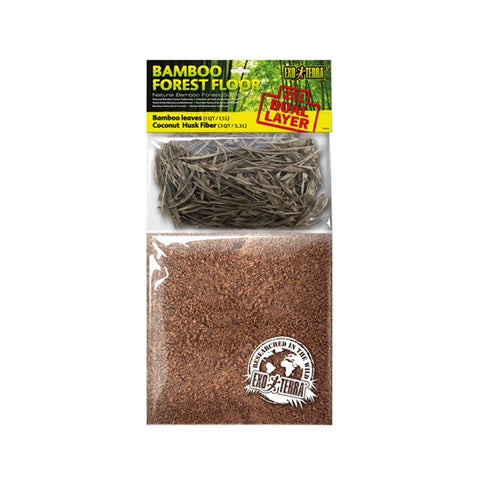 Exo Terra Bamboo Forest Floor Substrate with Leaf Litter