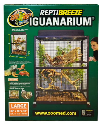 Zoo Med ReptiBreeze® IguanArium® Large Open Air Wire Terrarium