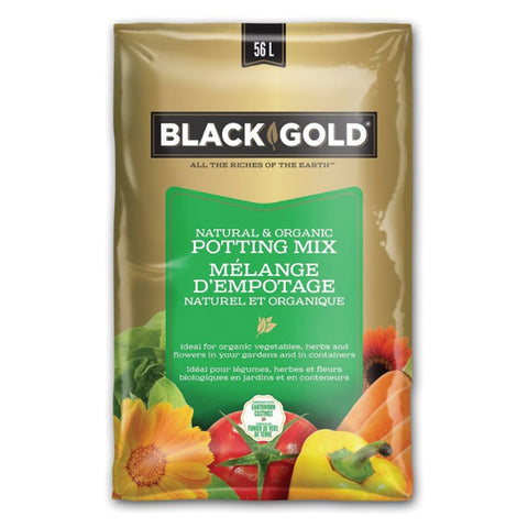 Black Gold Natural & Organic Potting Mix (56L)