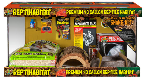 Zoo Med 40 Gallon ReptiHabitat Snake Kit