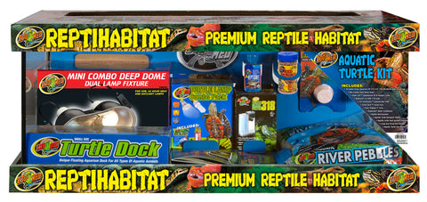 Zoo Med 20 Gallon ReptiHabitat Aquatic Turtle Kit