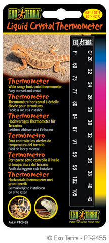 Exo Terra Liquid Crystal Thermometer Stick-On Strip