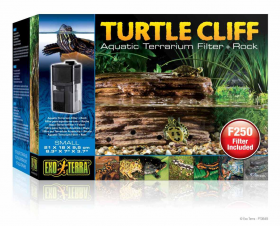 Exo Terra Turtle Cliff Aquatic Terrarium Filter + Rock