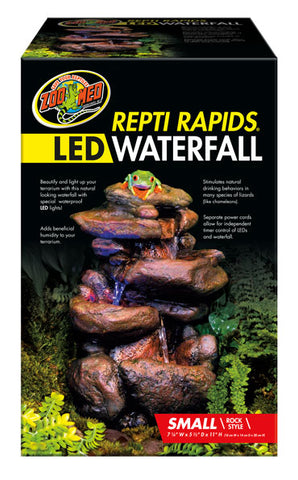 Zoo Med Repti Rapids LED Waterfall - Rock