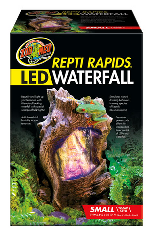 Zoo Med Repti Rapids LED Waterfall - Wood