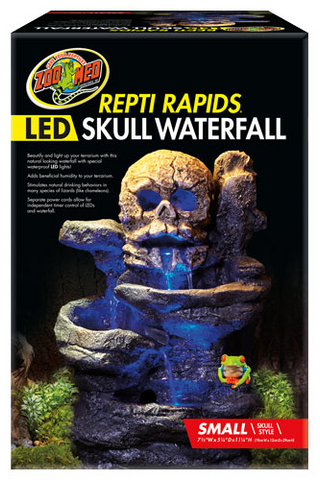 Zoo Med Repti Rapids LED Waterfall - Skull
