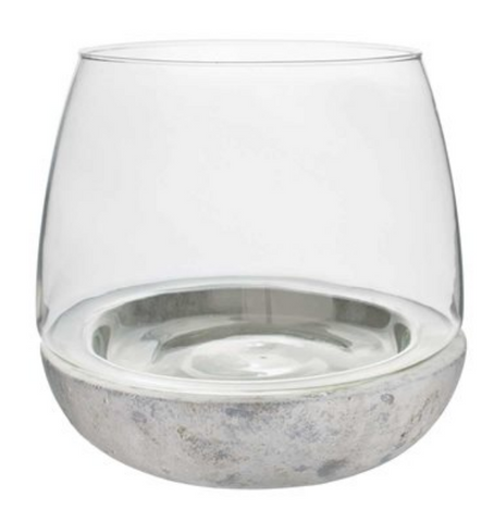 Glass and Cement Terrarium